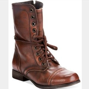 Steve Madden Genuine Leather Combat Boots